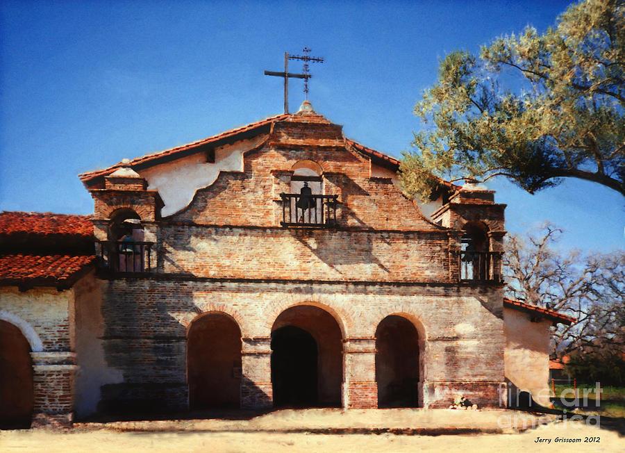California Mission Painting Mission San Antonio De Padua By Jerry Grissom