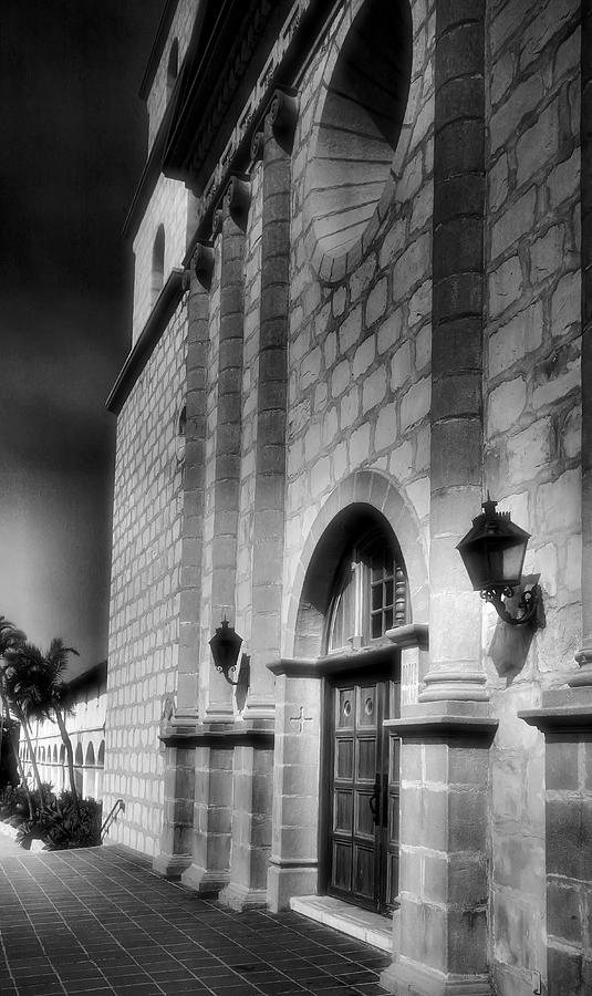 Adobe Mission Church Photograph - Mission Santa Barbara IIi by Steven Ainsworth