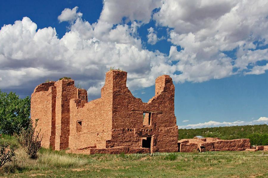 Quarai Photograph - Mission To Quarai New Mexico by Christine Till