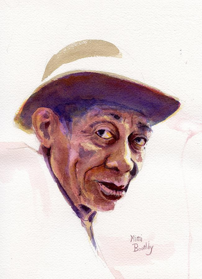 Portrait Painting - Mississippi John Hurt by Mimi Boothby