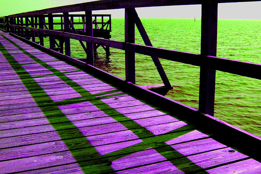 Digital Photography Photograph - Mississippi  Pier - Ver. 4 by William Meemken