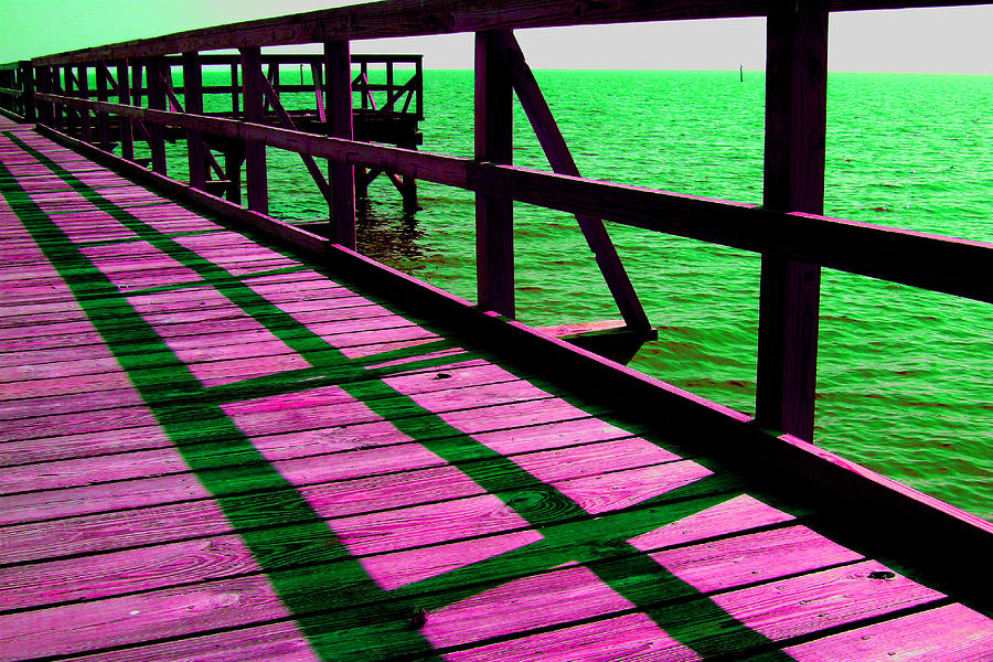 Digital Photography Photograph - Mississippi  Pier - Ver. 5 by William Meemken