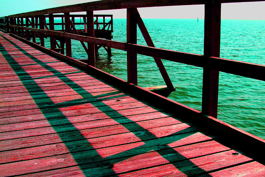 Digital Photography Photograph - Mississippi  Pier - Ver. 6 by William Meemken
