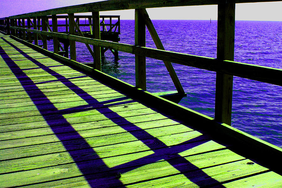 Digital Photography Photograph - Mississippi  Pier - Ver. 7 by William Meemken