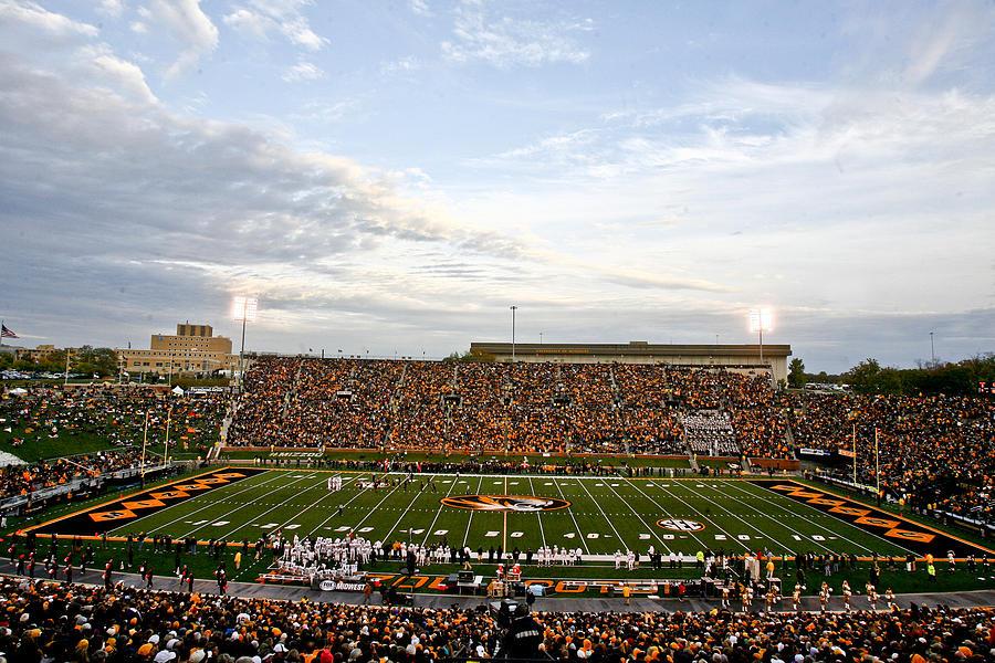 Mizzou Photograph - Missouri Memorial Stadium On Game Day by Replay Photos