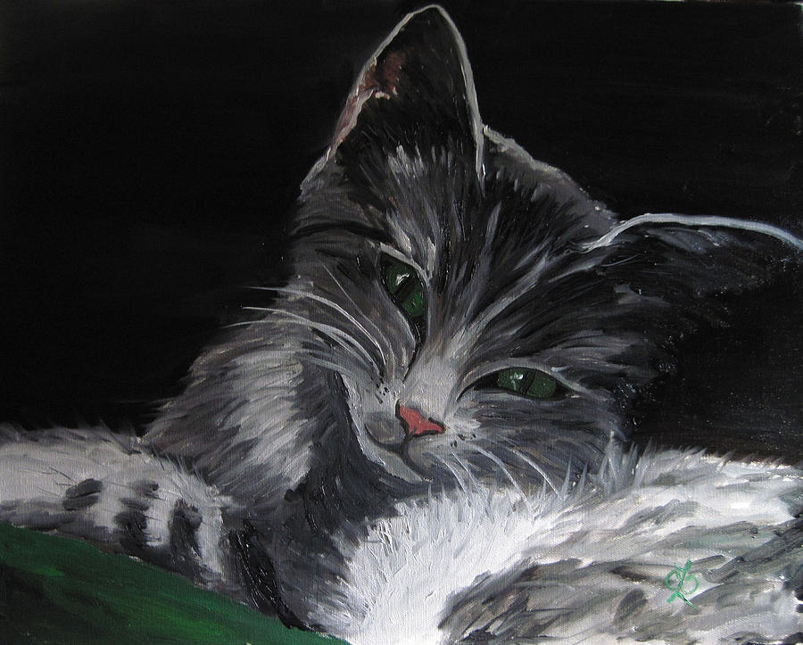 Kitty Painting - Missy by Claudia Croneberger