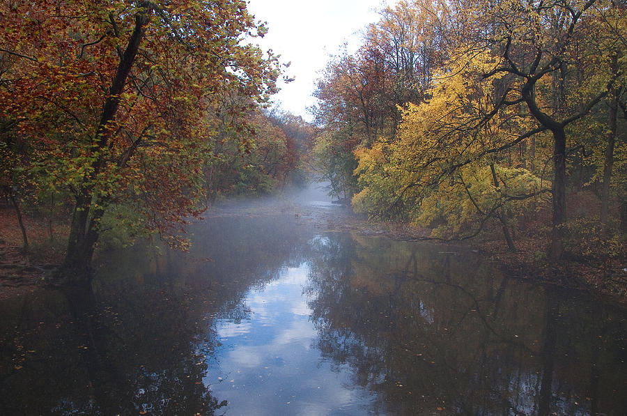 Mist Photograph - Mist Along The Wissahickon by Bill Cannon