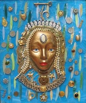 Caribbean Glass Art - Mistress Of The Caribbean by Charles McDonell
