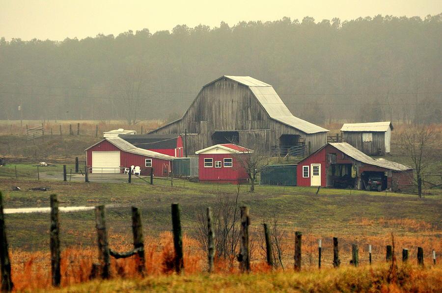 Barn Photograph - Misty Barn by Marty Koch