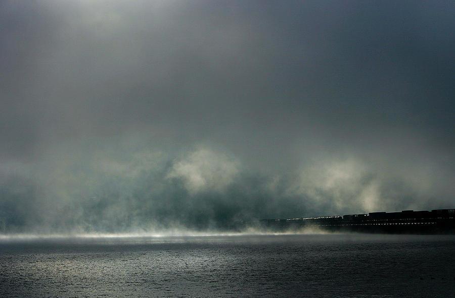 Sandpoint Photograph - Misty Crossing-2 by Marie-Dominique Verdier