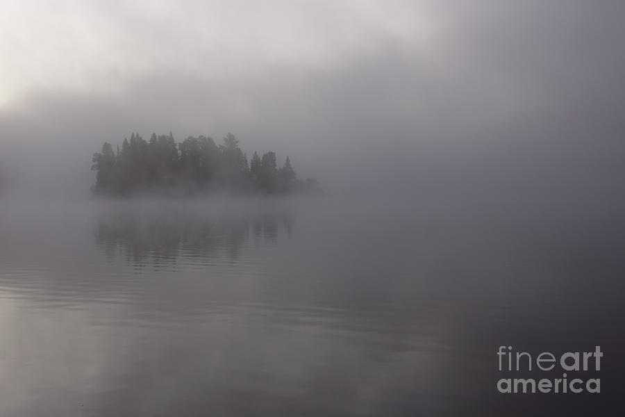 Island Photograph - Misty Evergreen Island by Chris Hill