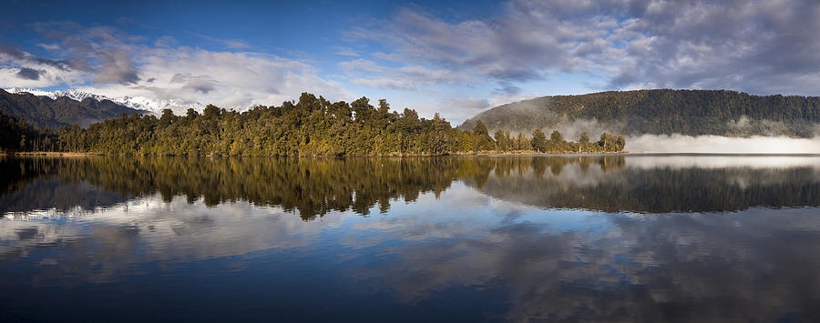 Misty Lake Mapourika Inwestland Np New Photograph by Colin Monteath
