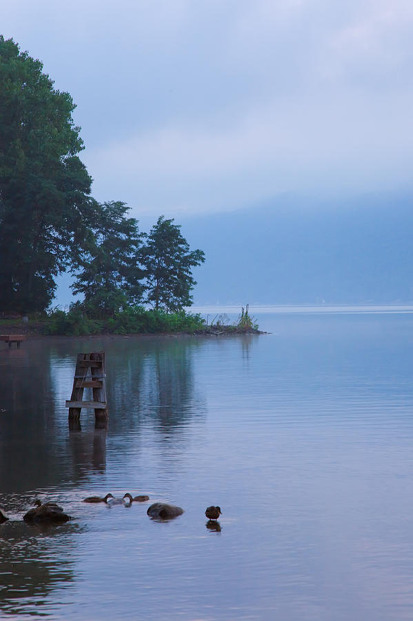 Dock Photograph - Misty Morning II by Steven Ainsworth