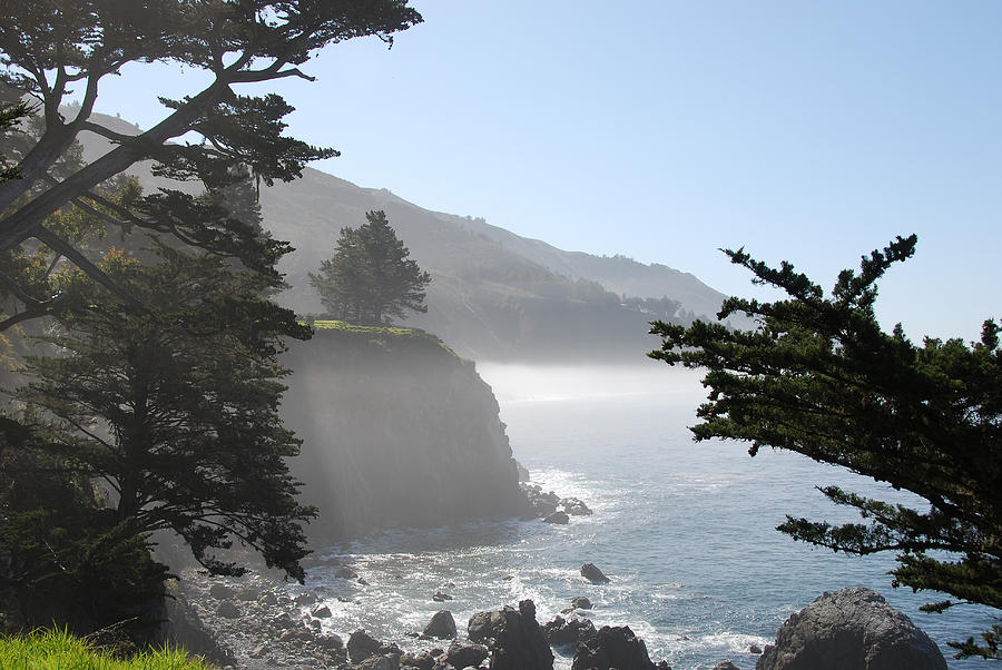 Big Sur Coast Photograph - Misty Morning On The Big Sur Coastline by Camilla Brattemark