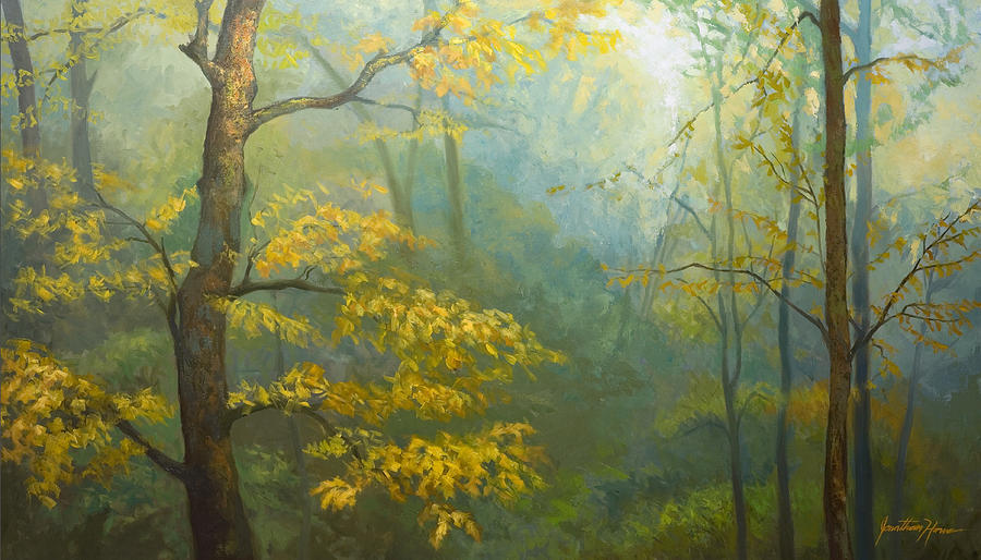 Portraits Painting - Misty Mountains by Jonathan Howe