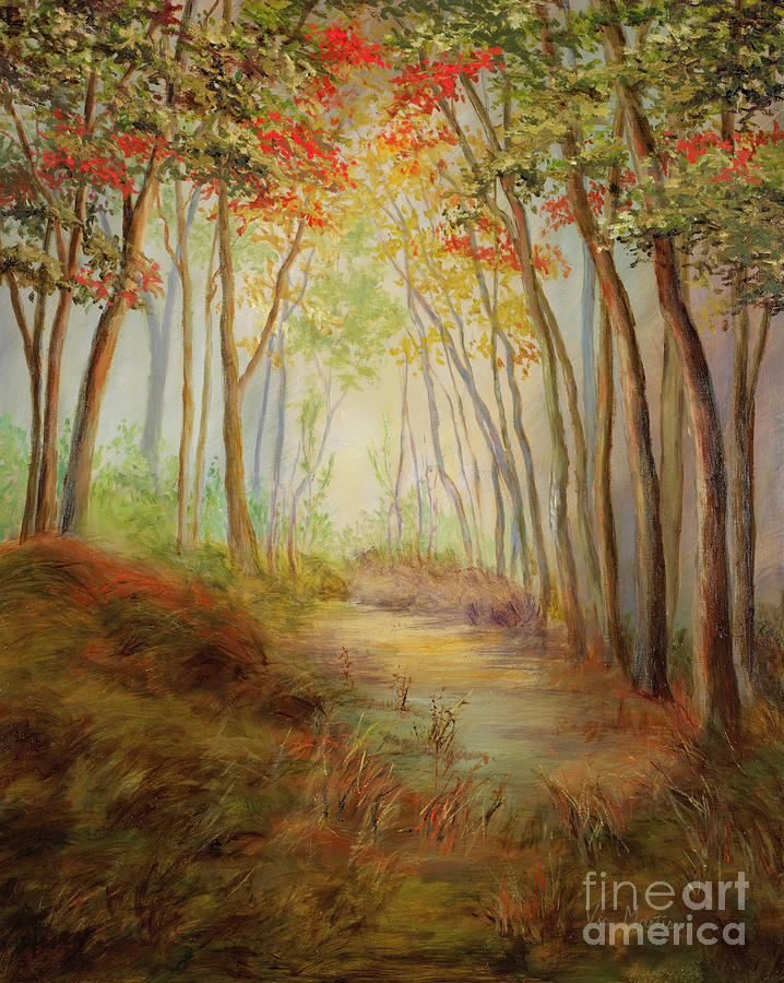 Path Painting - Misty Path by Vic  Mastis