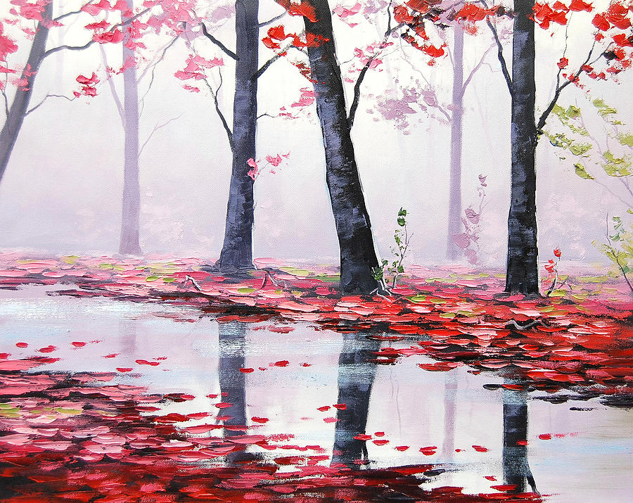 Pink Trees Painting - Misty Pink by Graham Gercken