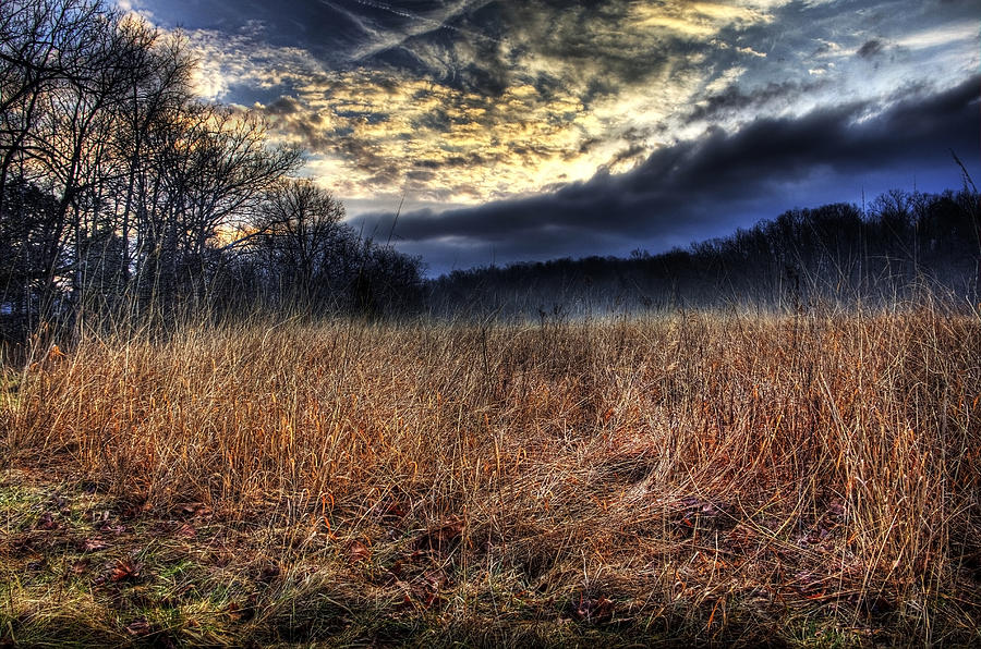 Morning Photograph - Misty Sunrise by Mark Six