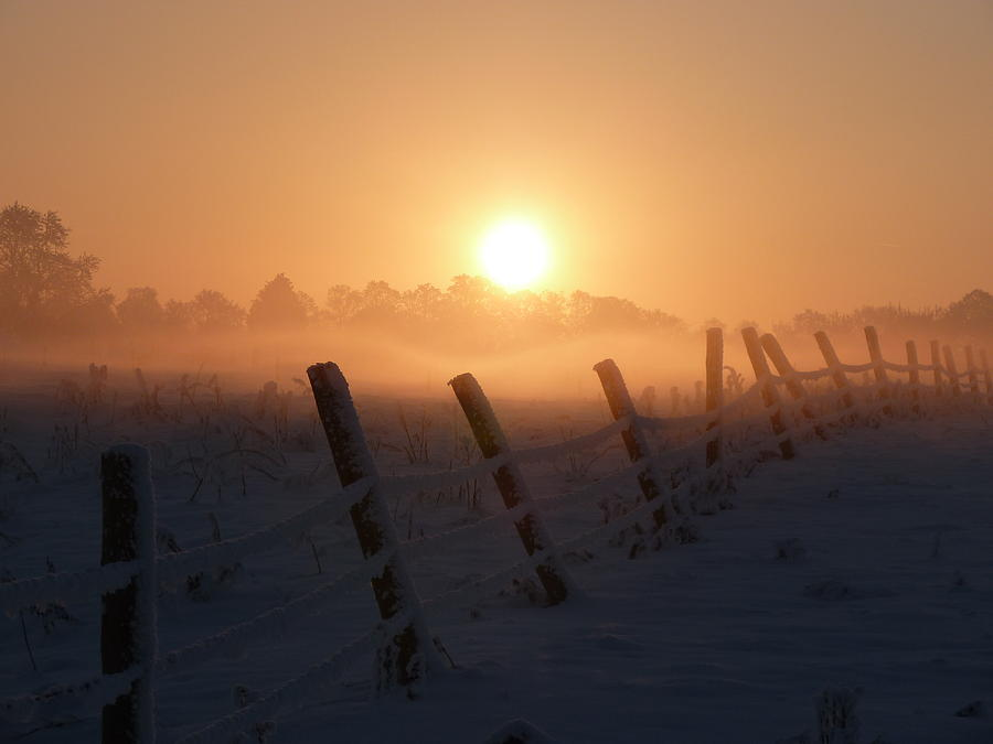 Misty Sunset Photograph - Misty Sunset by Cat Shatwell