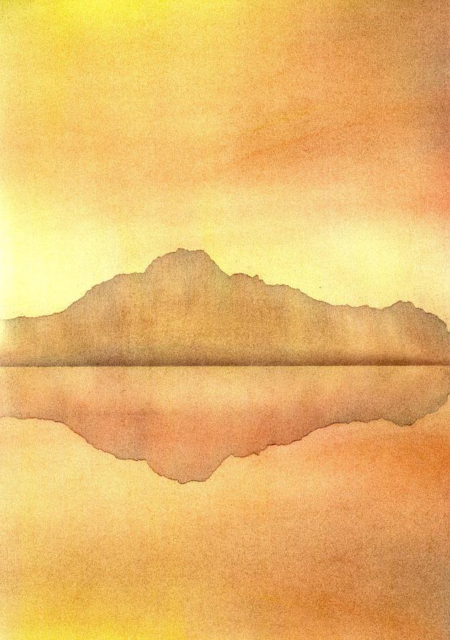 Landscape Painting - Misty Sunset by Hakon Soreide