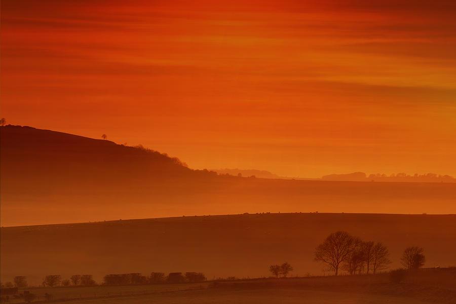 Sunset Photograph - Misty Sunset by Mark Leader