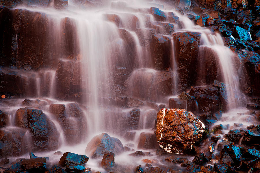 Waterfall Photograph - Misty Waterfall by Manju Shekhar