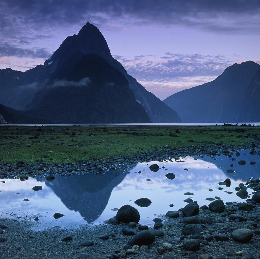 Horizontal Photograph - Mitre Peak by Atan Chua