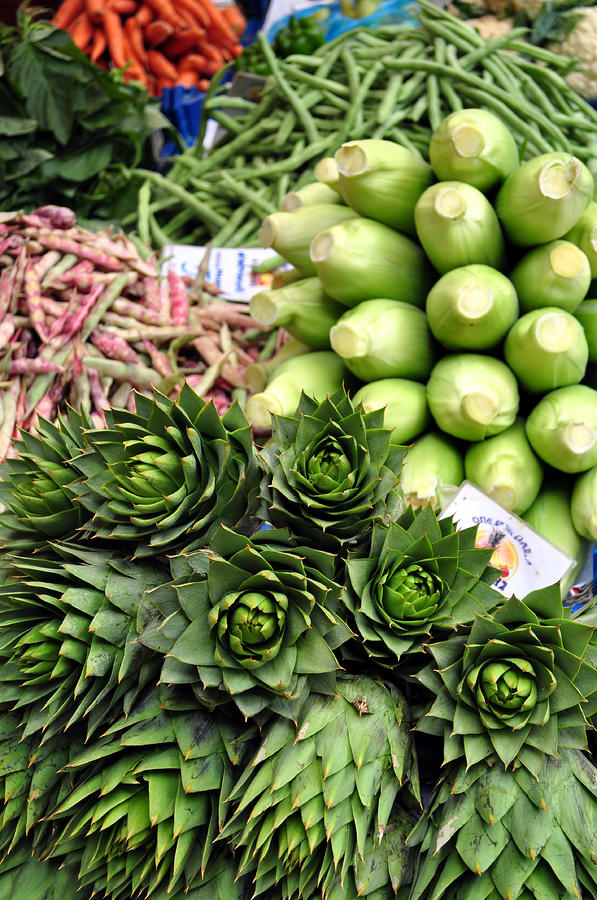 Artichoke Photograph - Mixed Vegetables. by Fernando Barozza