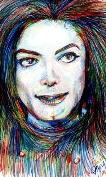 Mj In Primary Colors Drawing By Carliss Mora
