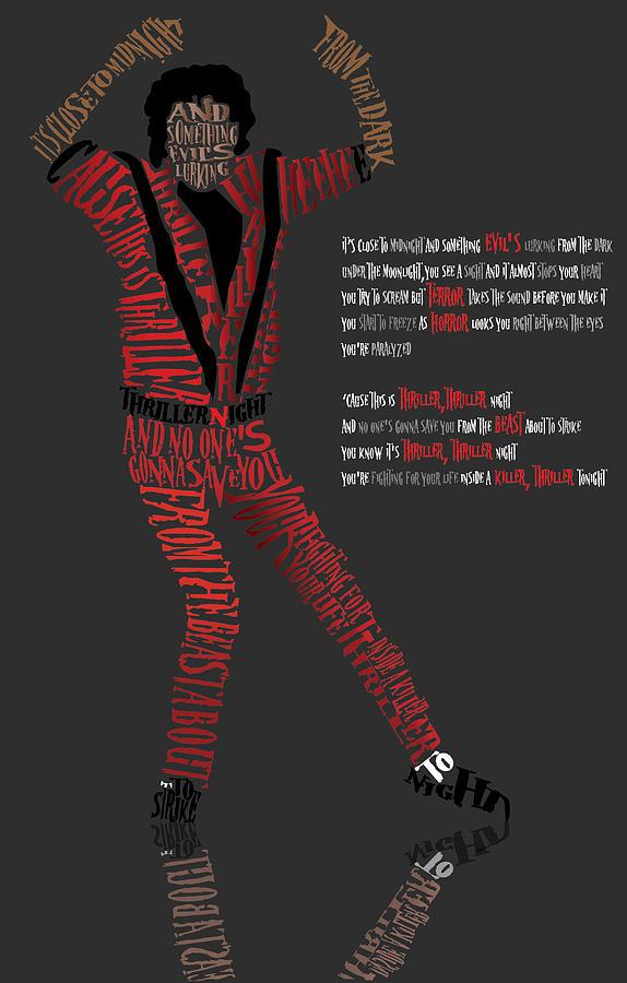Celebrity Art Digital Art - Mj_typography by Mike  Haslam