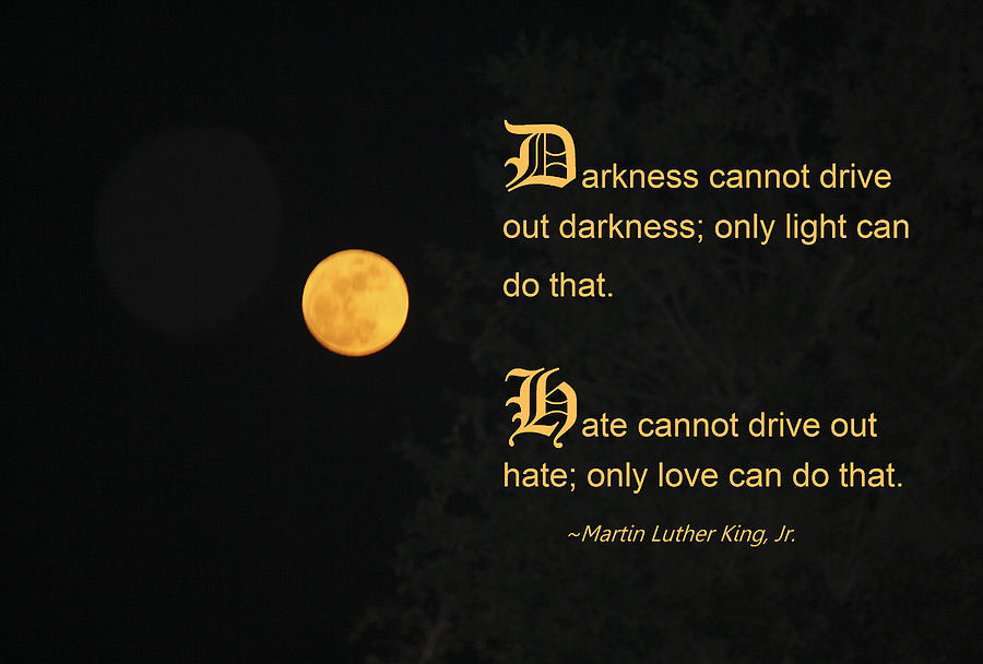 Martin Luther King Photograph - Mlk And A Yellow Moon by Andrea  OConnell