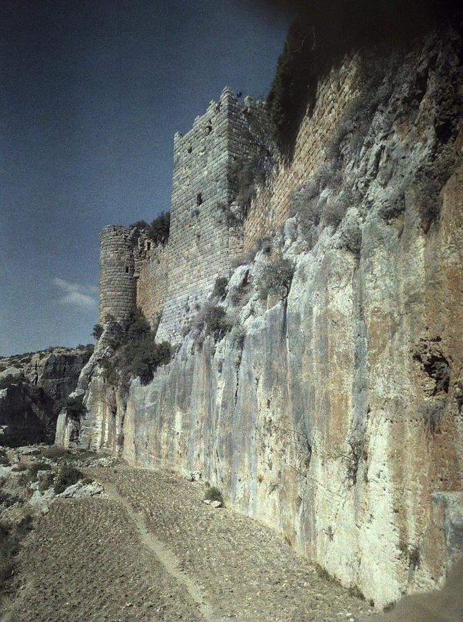 1930s Photograph - Moat Of Saladins Castle, A Byzantine by Everett
