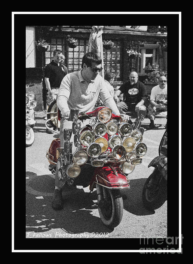Scooter Photograph - Mod by Trevor Fellows