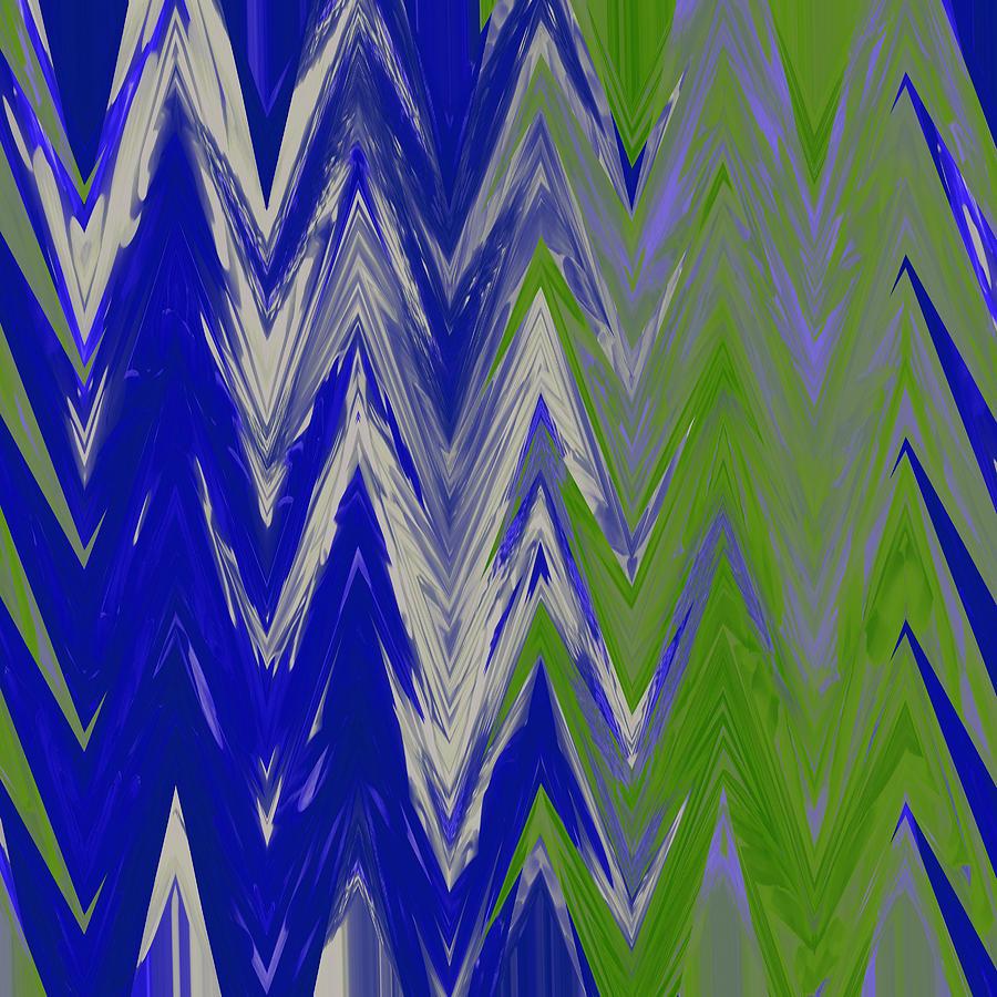 Chevron Pattern Mixed Media - Moda Chevron Pattern IIi by Ricki Mountain