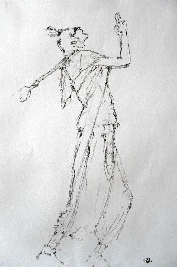 Human Drawing - Model 2086 by Mohd Raza-ul Karim