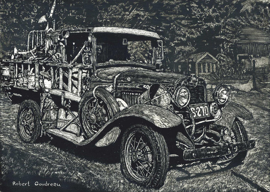 Ford Painting - Model A Ford by Robert Goudreau