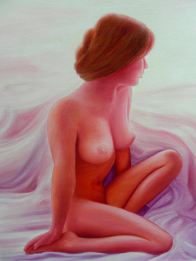 Portrait Painting - Modell by Istvan Patko