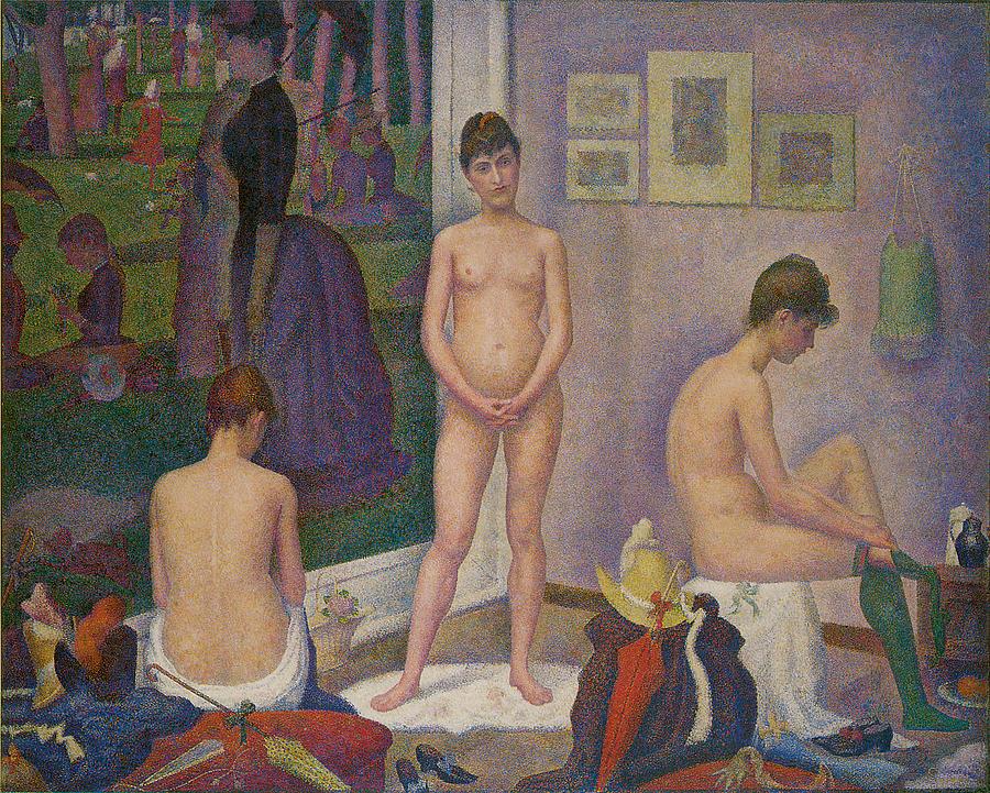 George Seurat Painting - Models by Georges Seurat