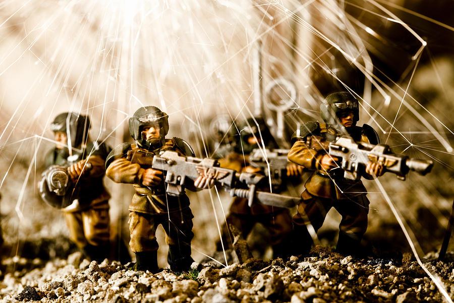 Aggression Photograph - Modern Battle Field by Marc Garrido