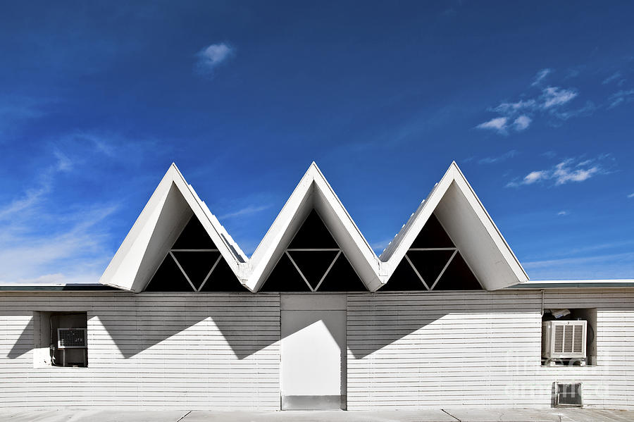 Angles Photograph - Modern Building Roofing by Eddy Joaquim