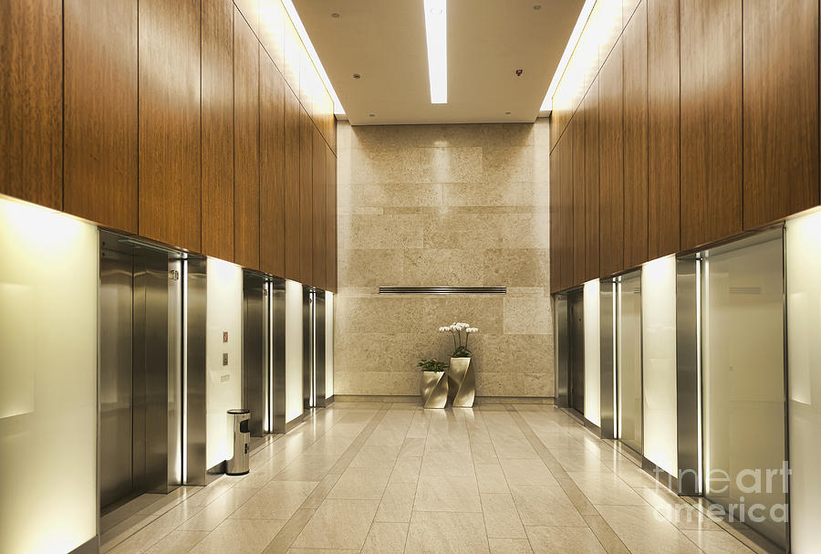 modern elevators photograph by dave les jacobs