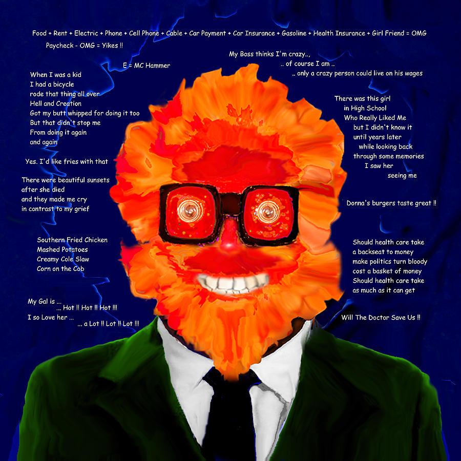 Whimsical Digital Art - Modern Musings by AW Sprague II