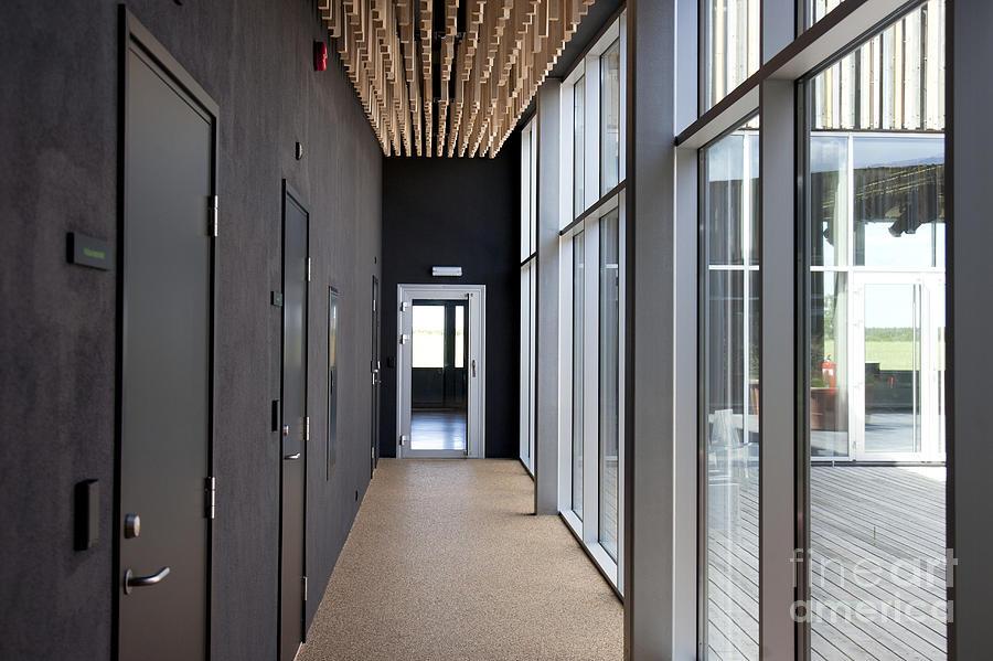 hallway office. Building Photograph - Modern Office Hallway By Jaak Nilson L