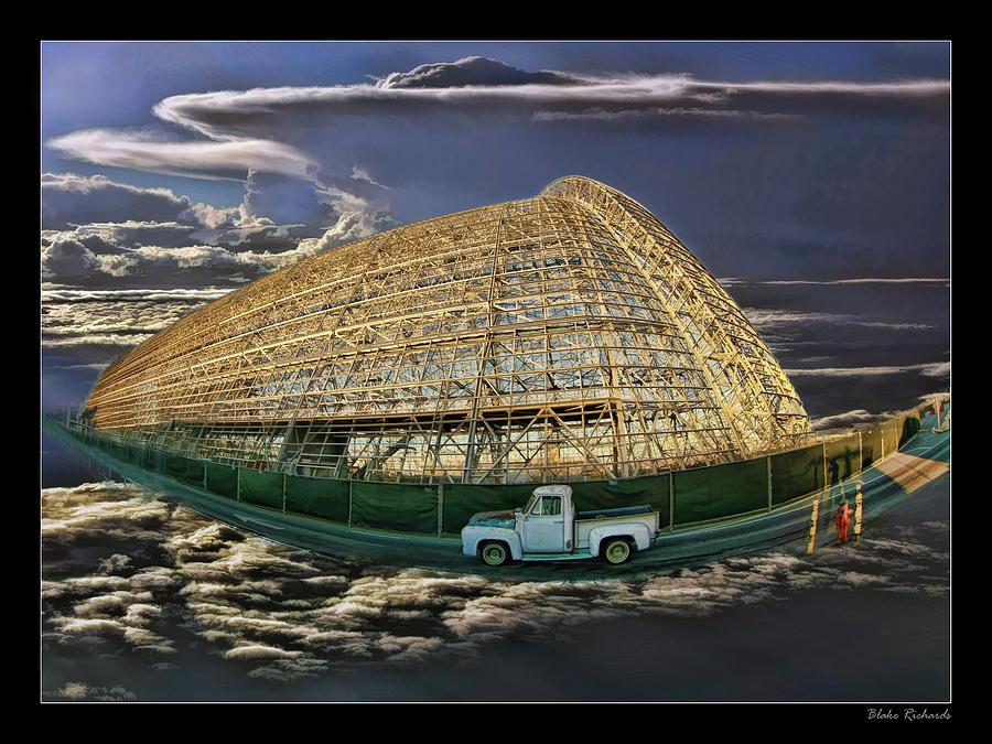 Moffett Field Photograph - Moffett Field Hangar One And Truck by Blake Richards
