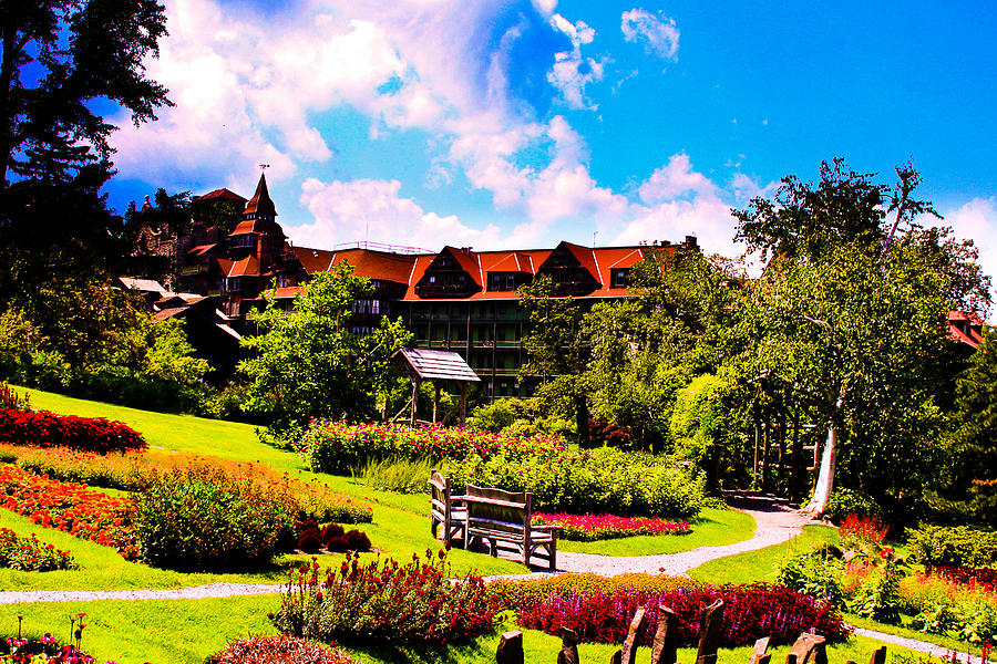 Landscape Photograph - Mohonk Mountain House Garden by Michael Ray