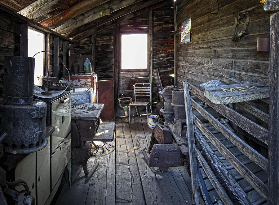 Ghost Town Photograph - Molson Ghost Town Storage Shed by Daniel Hagerman