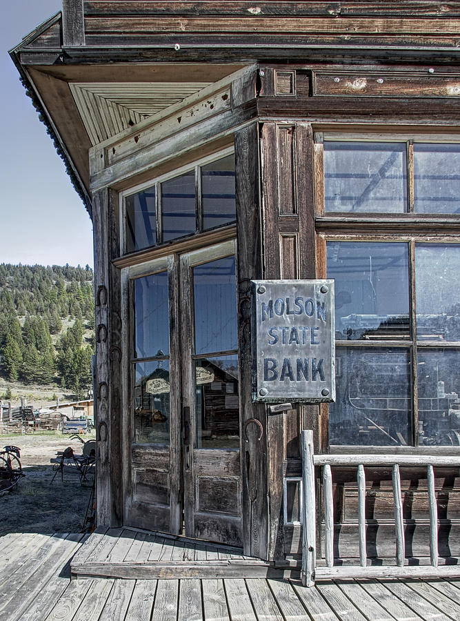 Bank Photograph - Molson Washington Ghost Town Bank by Daniel Hagerman