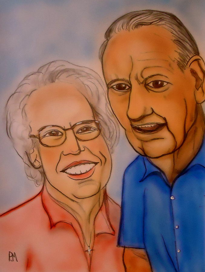 Portrait Painting - Mom And Dad by Pete Maier