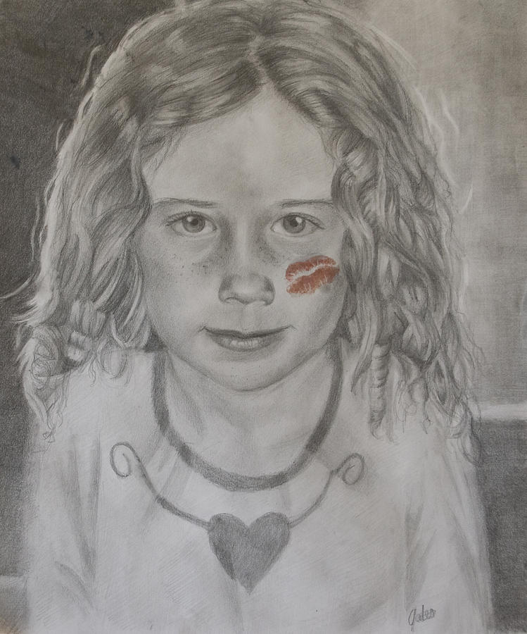 Girl Drawing - Mommy Loves Me by Joanna Gates