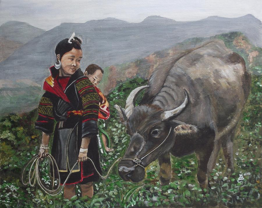 Acrylic Painting - Moms Little Helper by Kim Selig
